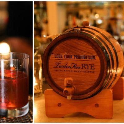 Twelve Five Rye Barrel Aged Cocktail at Big Bar Alcove