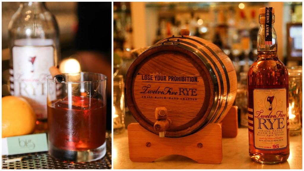 Twelve Five Rye Barrel Aged Cocktail at Big Bar Alcove