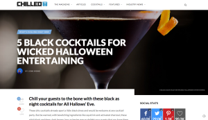 5 Halloween Cocktails that are black as night